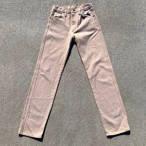 EUC Vintage wrangler cowboy cut jeans, beige color